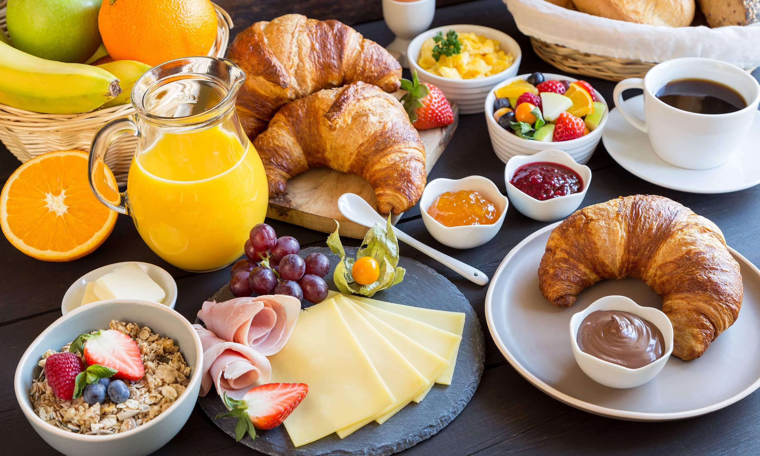 Frühstück im Hotel Palin